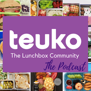 Teuko Podcast now available on Anchor, Spotify, Google Podcasts, and more, to listen to the newest lunchbox news, tips, and trends on the go!